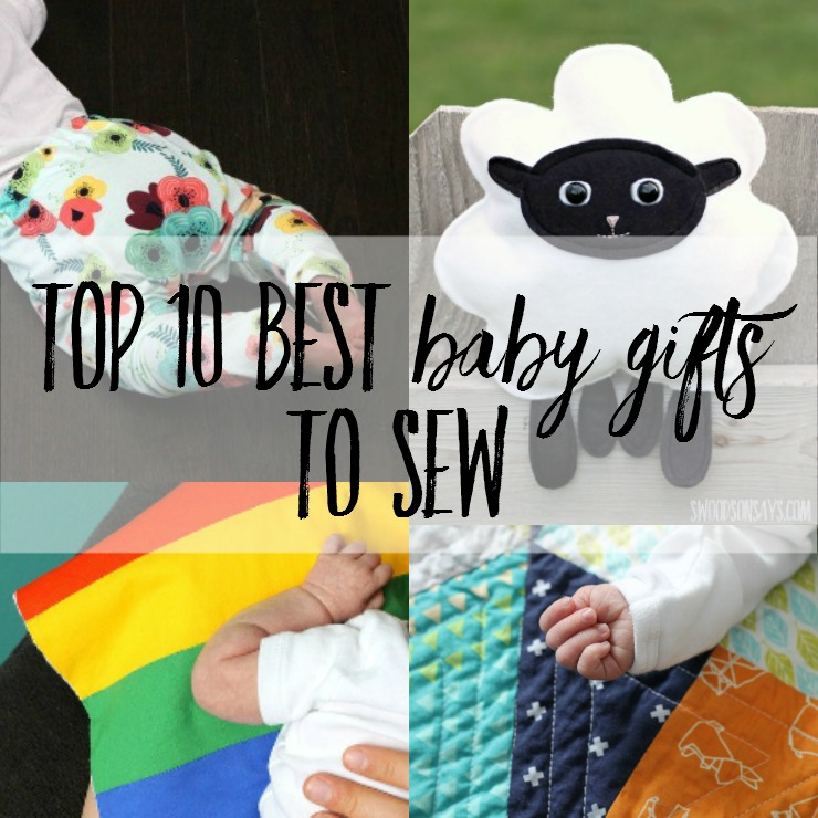Top 10 best baby gifts to sew! There are 50+ links to free patterns and tutorials for the best handmade baby gifts. Pair one with something practical that you loved as a parent for the best baby shower gift idea ever!