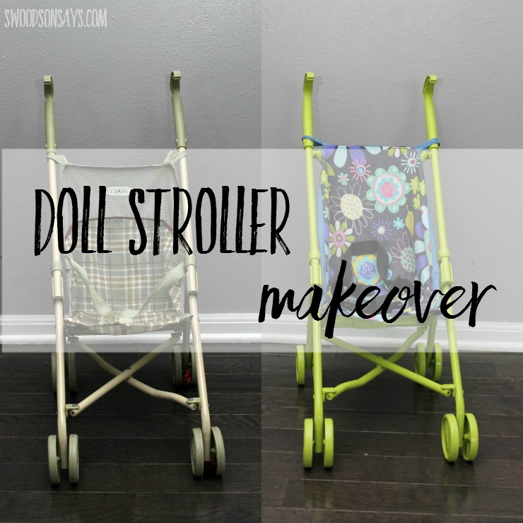 A thrift shop doll stroller gets a makeover into a colorful, modern version! See how paint and fresh fabric can transform a dated toy.