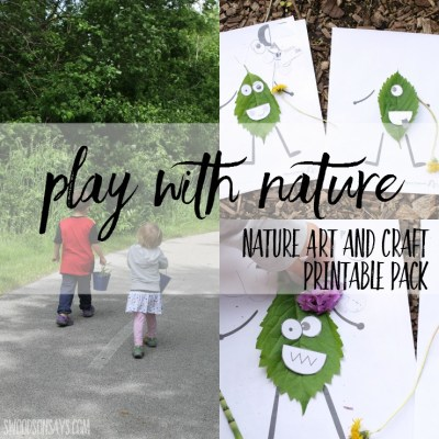 Take a hike and get creative along the way! Check out this nature art & craft printable pack full of fun activities for kids.