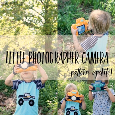 Little Photographer Camera Softie – Updated!