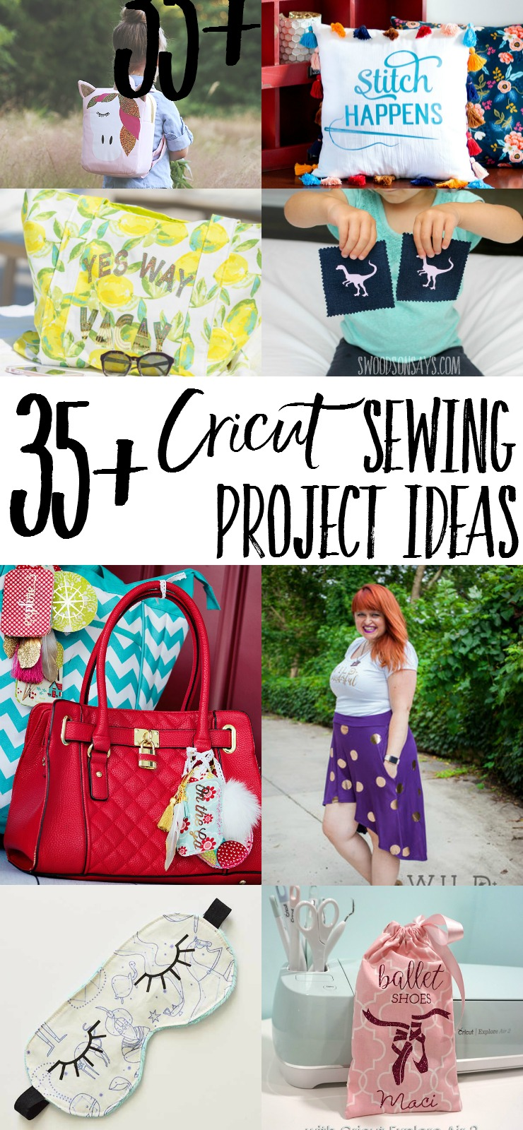 Cricuts aren't just for paper crafts, check out how you can use your Cricut with fabric! Lots of sewing tutorials and inspiration for using your Cricut to embellish and create projects.