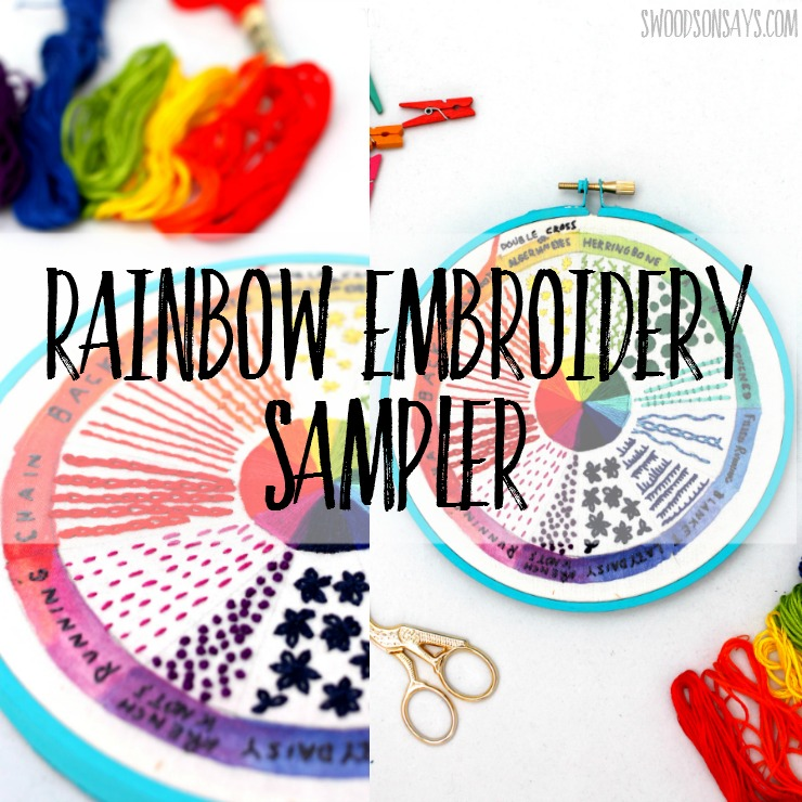 Modern Embroidery Sampler Pattern Swoodson Says