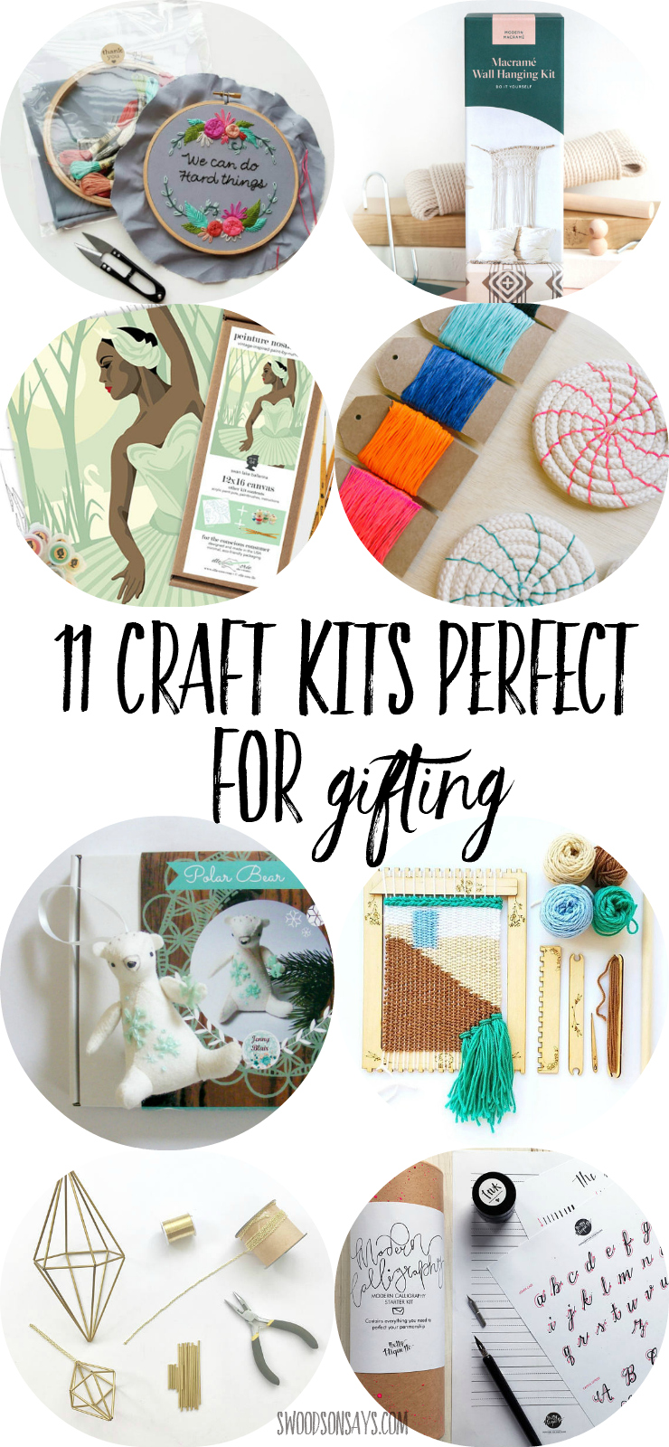 Hunting gift ideas for crafters? Help them try a new medium with these craft kids perfect for gifting! Craft kits mean they don't have to buy any supplies or hunt down tutorials, it is all included. Check out these modern craft kits and get shopping! #craftkit