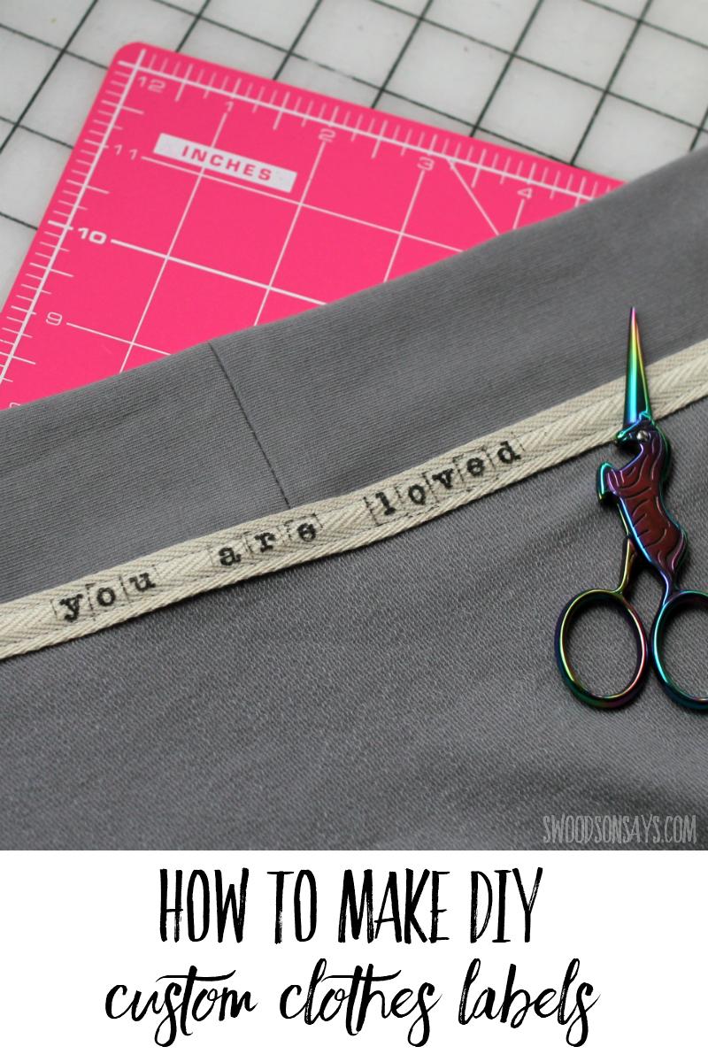 diy custom clothing labels