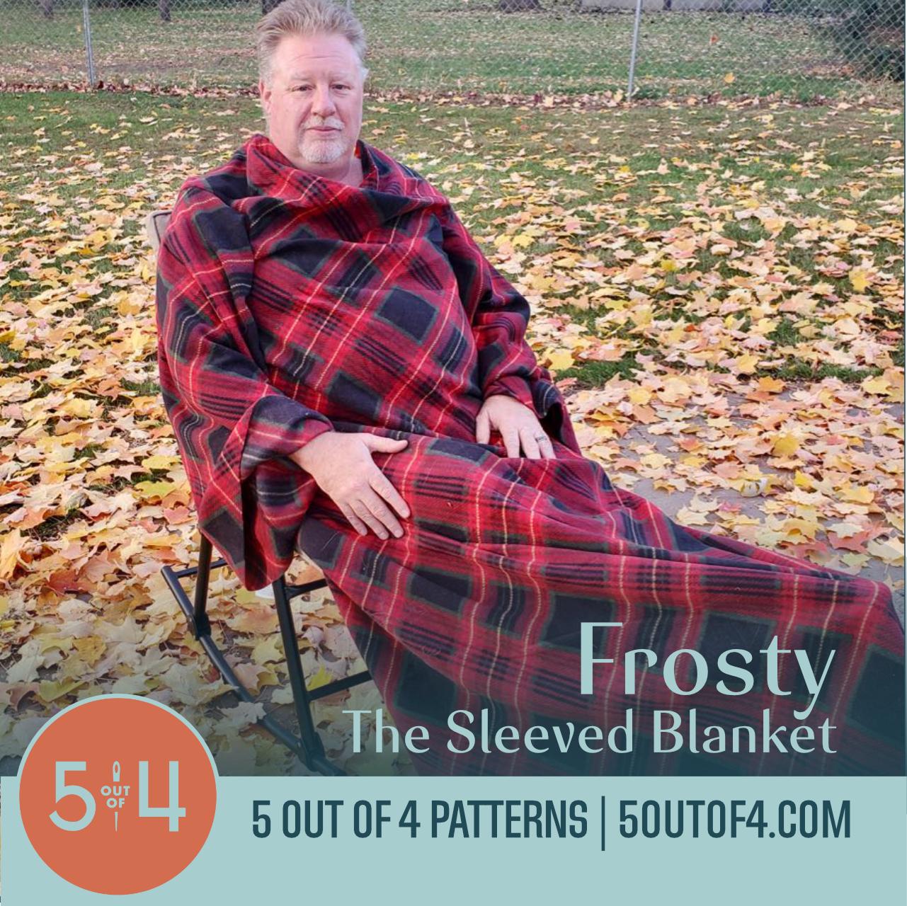 free sleeved blanket pattern