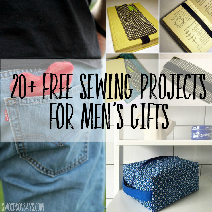 20+ Free Sewing Projects for Men's Gifts! Fresh new ideas to sew for men, all with free tutorials and patterns linked. Don't stress over sewing ideas for guys, check out this list! #sewingformen #diypresentsformen