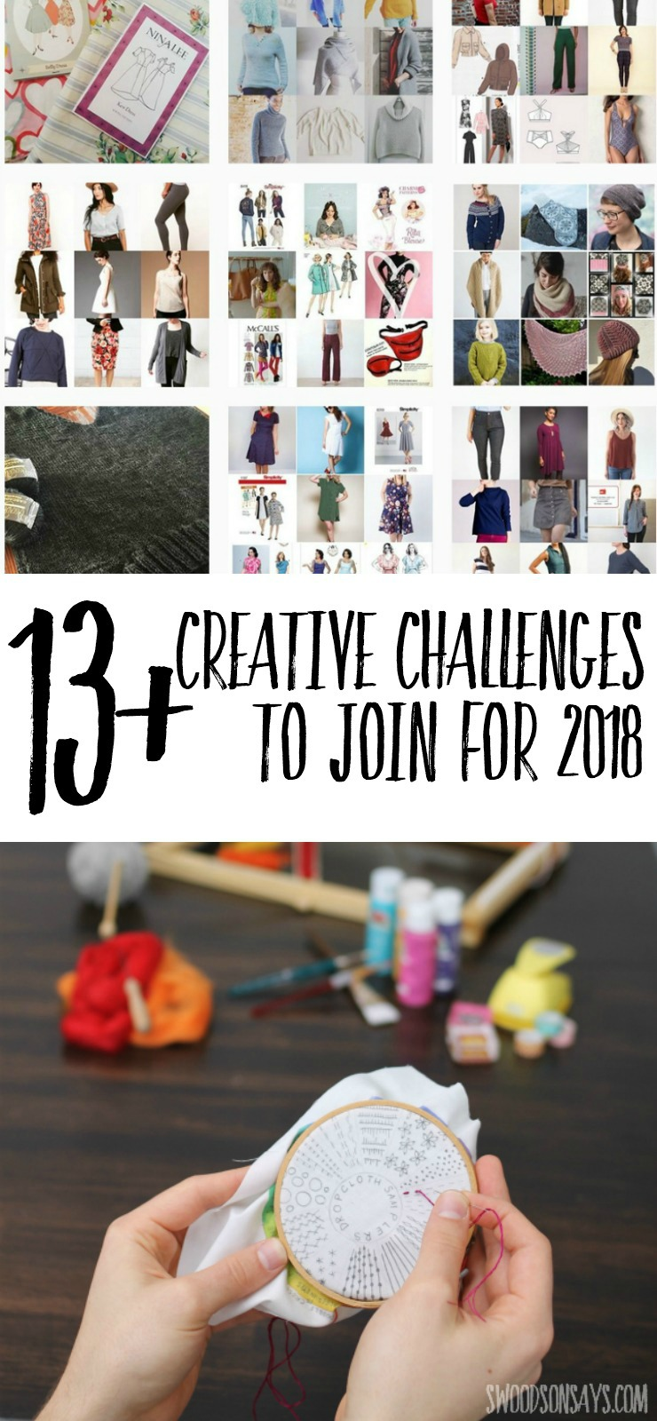 Looking for 2018 creative challenges to build community and gain some accountability? See all your options for sewing, knitting, and crafting groups to encourage each other and make more this year!