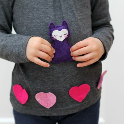 Valentine's Day Stuffed Animal to Sew For Kids