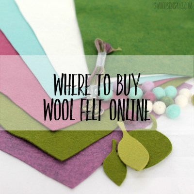 Where to buy wool felt online