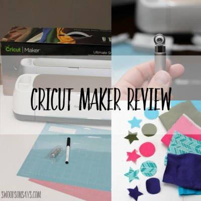 Cricut Maker Review – It Cuts Fabric!