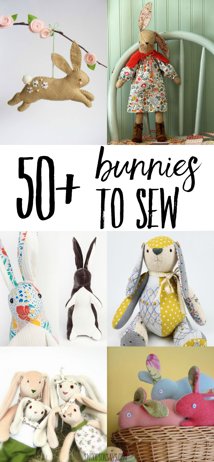 50 stuffed bunny sewing patterns swoodson says check out over 50 bunny sewing patterns to sew the sweetest stuffed animals perfect easter negle Gallery
