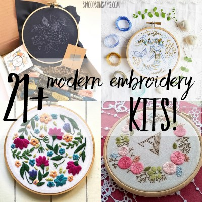 Modern embroidery kits for beginners