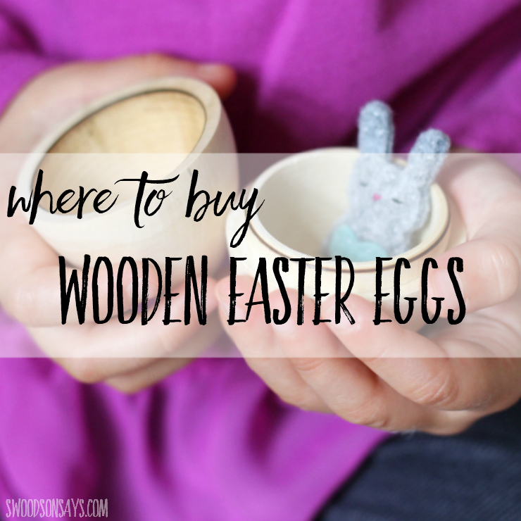 It can be overwhelming searching for a specific Easter craft product; I'm sharing where to buy hollow wooden eastern eggs that open! #easter #eastercrafts