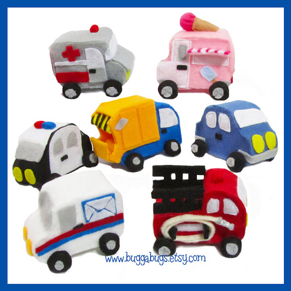 Stuffed truck sewing pattern
