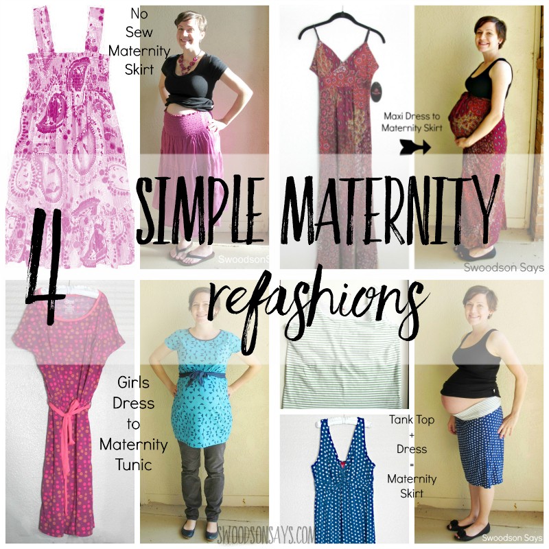5 Simple Maternity Refashions Swoodson Says