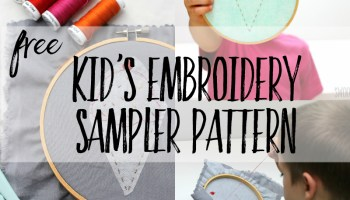 10 Free simple embroidery patterns for kids - Swoodson Says