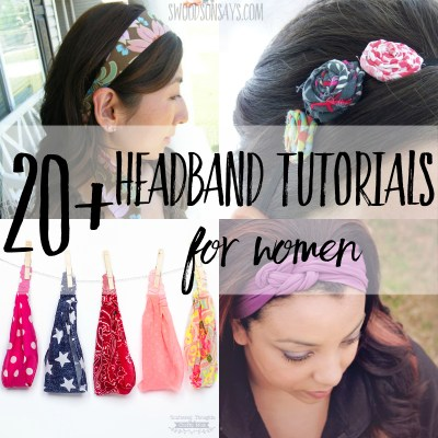 20+ Free headband sewing tutorials for women