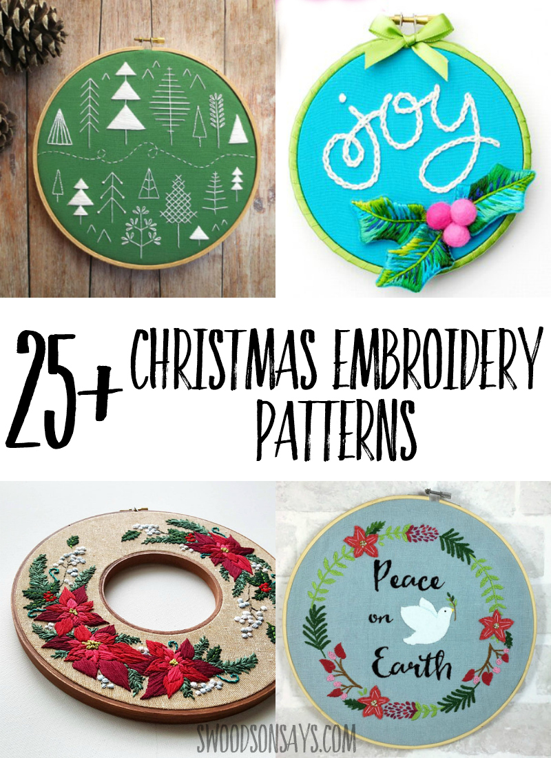 Get festive this year with fun and modern Christmas hand embroidery patterns! Fun Christmas needlework projects that are great for gifting or hanging on your wall. #embroidery #handembroidery #christmas #christmascrafts
