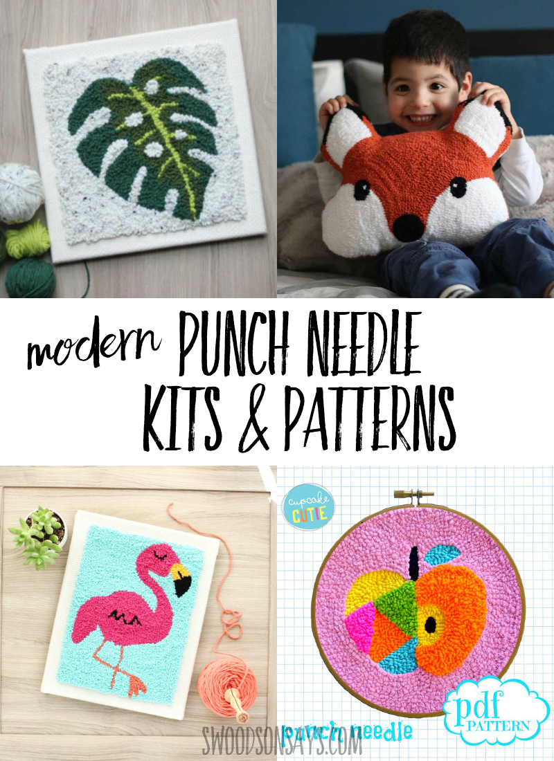 No need for punch needle instructions when you buy a punch needle kit or punch needle pattern! Check out this curated list of modern punch needle inspiration and start stitching. #embroidery #punchneedle #crafts