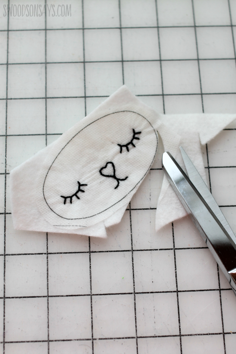 step 2 how to embroider a face on a stuffed animal
