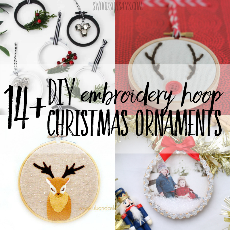 14+ tutorials for embroidery hoop Christmas ornaments - Swoodson Says