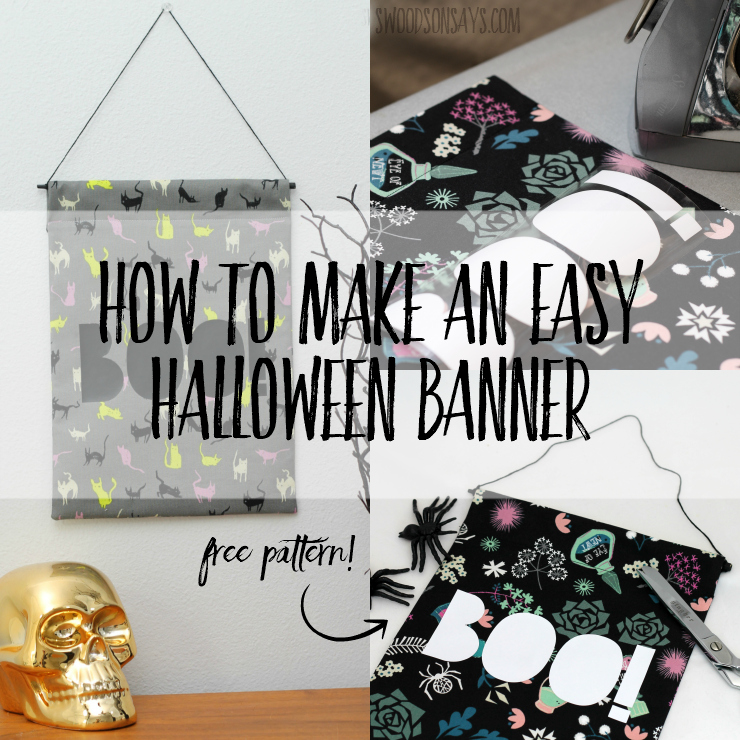 use this free sewing tutorial to make an easy halloween banner includes a free halloween holiday decorating