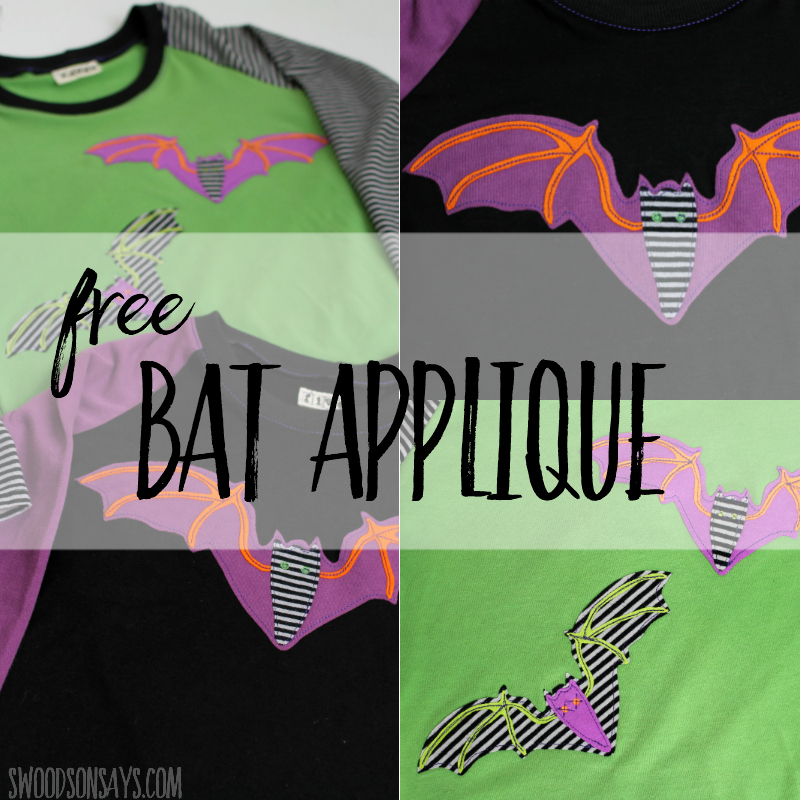 free bat applique