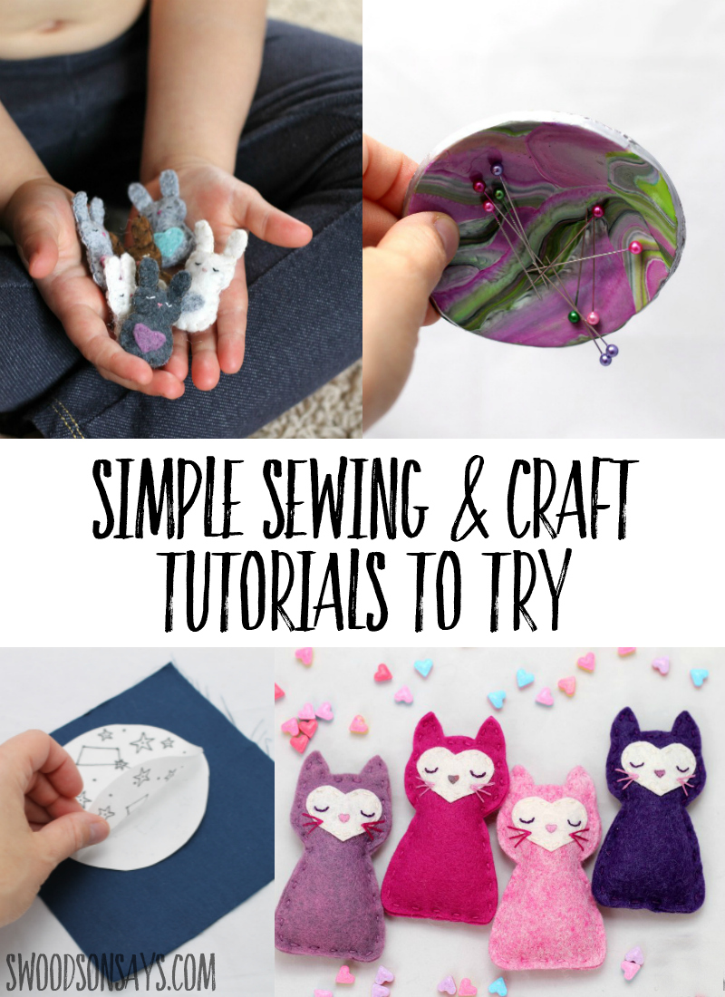 Check out these simple sewing & craft tutorials that are great for beginners! Creative ideas for hand embroidery, softies, refashions, and more. #sewing