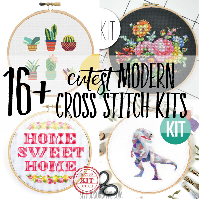 The best modern cross stitch kits