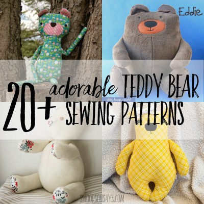 cutest teddy bear sewing patterns