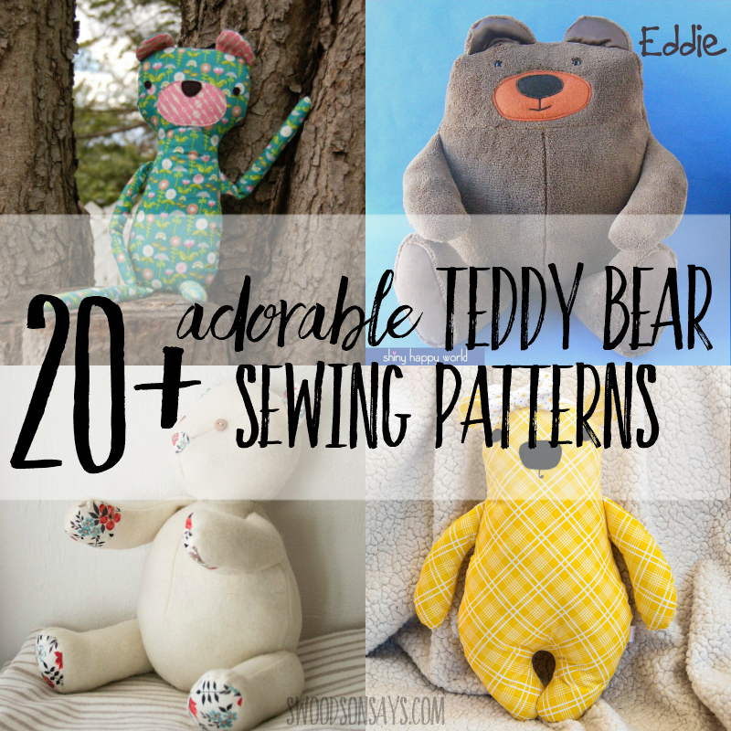 Printable Sewing Pattern Bear Teddy