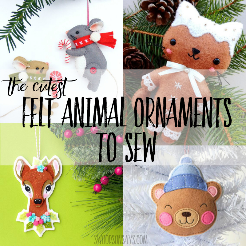 The Cutest Animal Christmas Ornament Patterns Swoodson Says