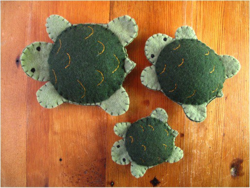 free turtle felt sewing pattern