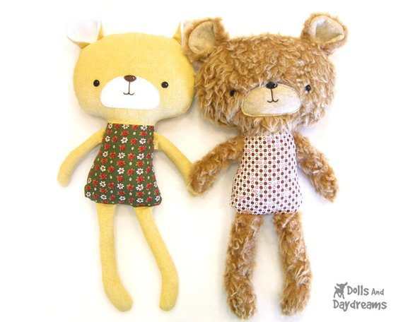 fur teddy bear sewing pattern