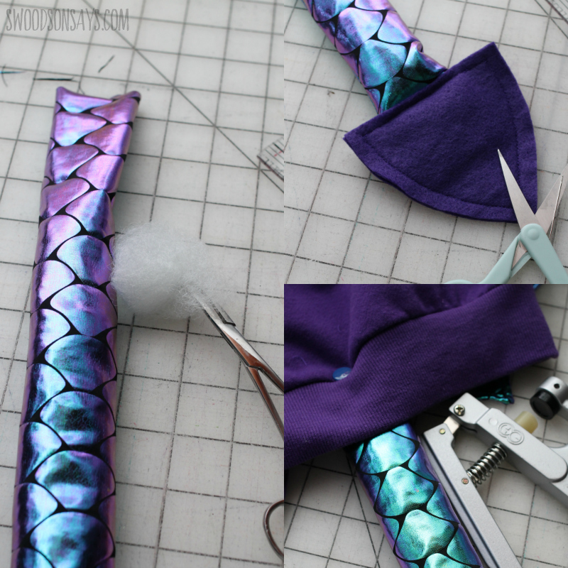 sewing easy dragon tail