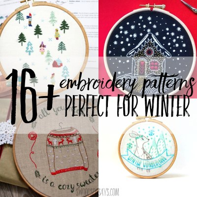 13+ winter hand embroidery patterns