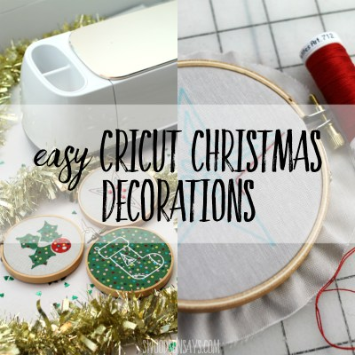 Easy Cricut Christmas decorations
