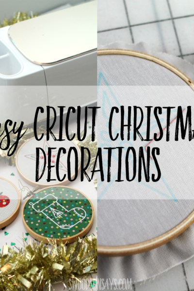 Easy Cricut Christmas decorations