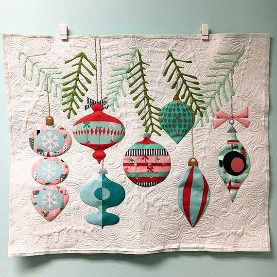 applique laser cut christmas quilt kit