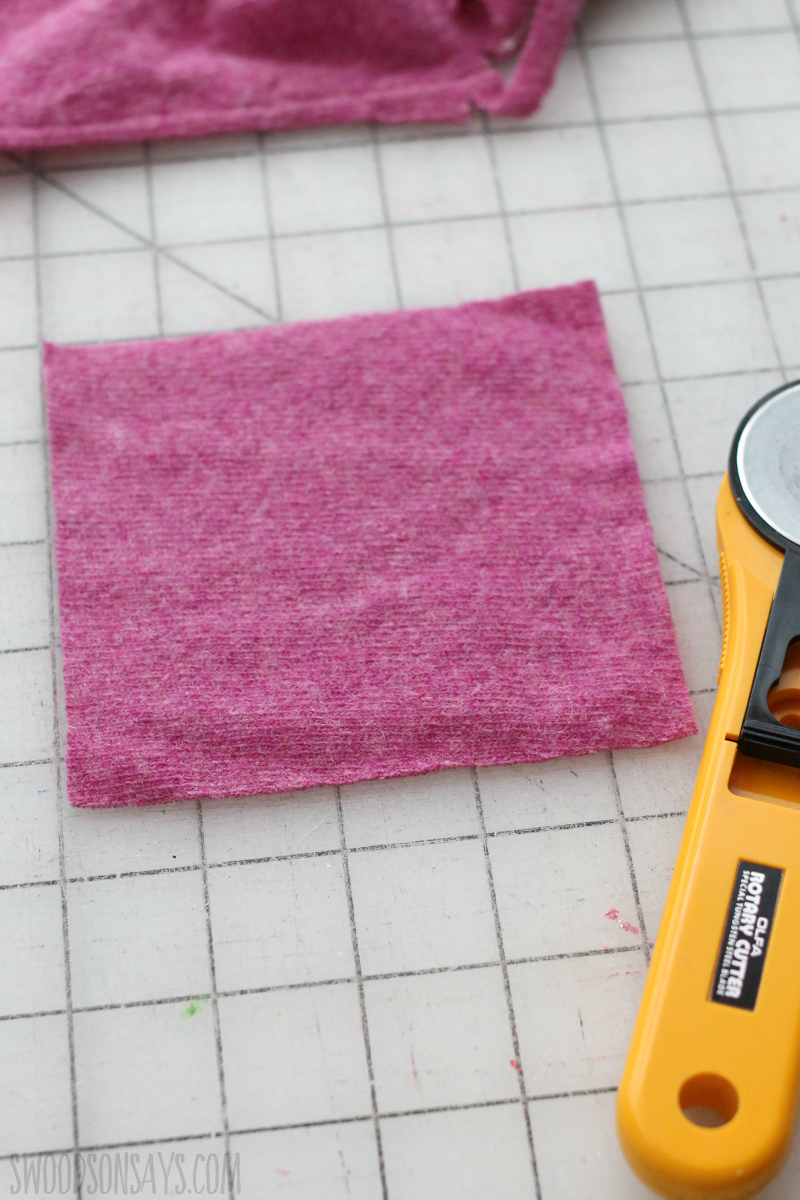 cutting felt square