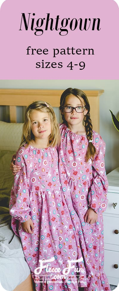 free flannel nightgown sewing pattern