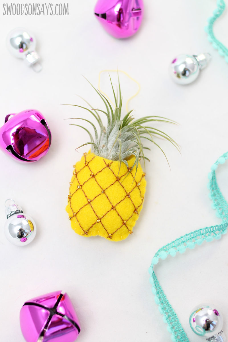 free pineapple ornament pattern to hand sew