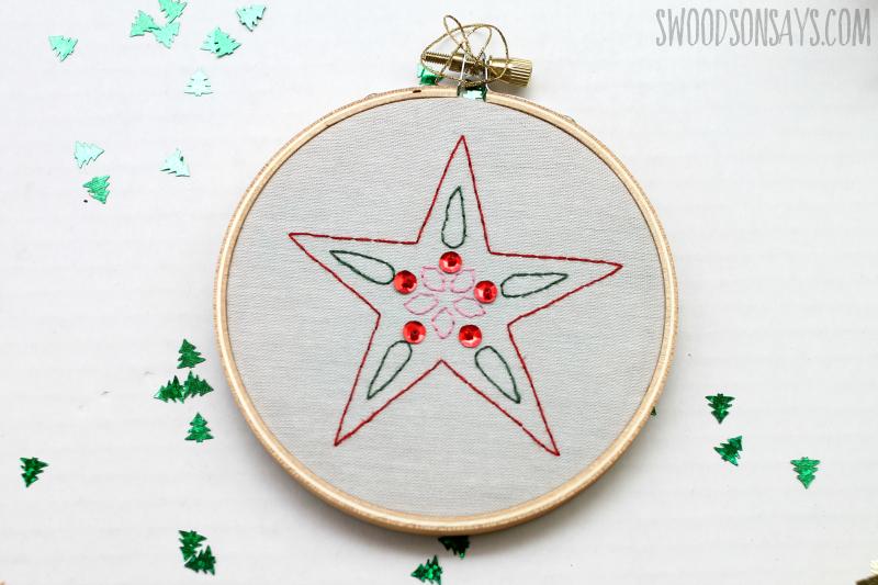 hand embroidery cricut ornament