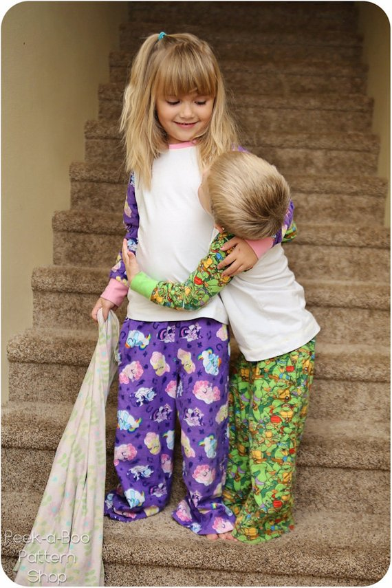 kids pajama pants pattern