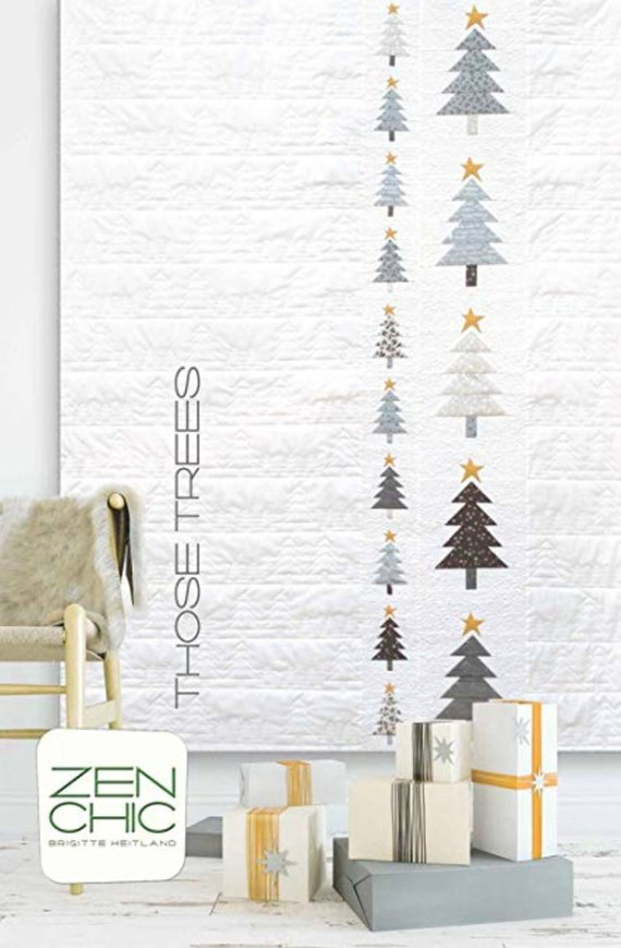 minimalist christmas tree quilt pattern