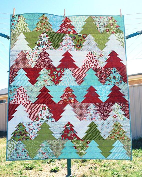 pine tree christmas quilt pattern