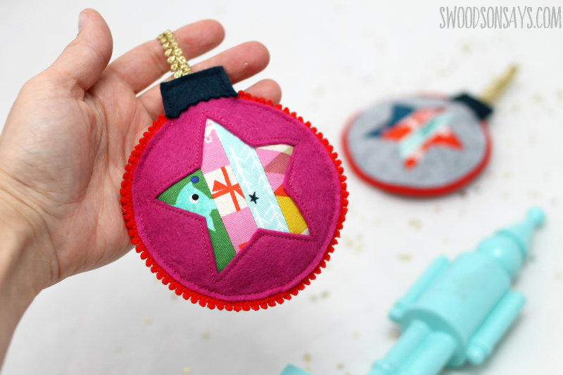 star fabric felt ornament free pattern