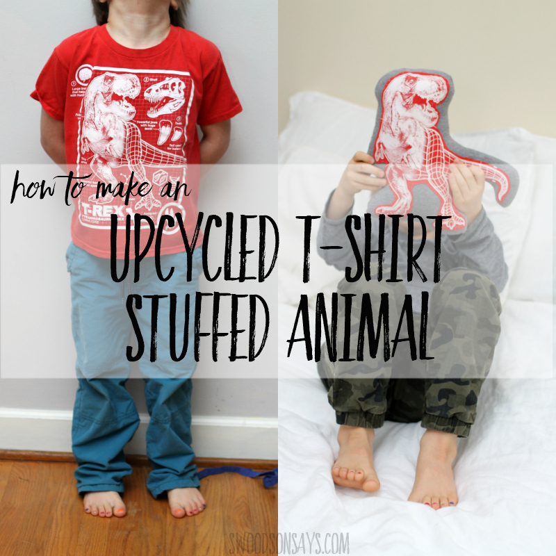 Sewing tutorial: Upcycled t-shirt stuffed animal