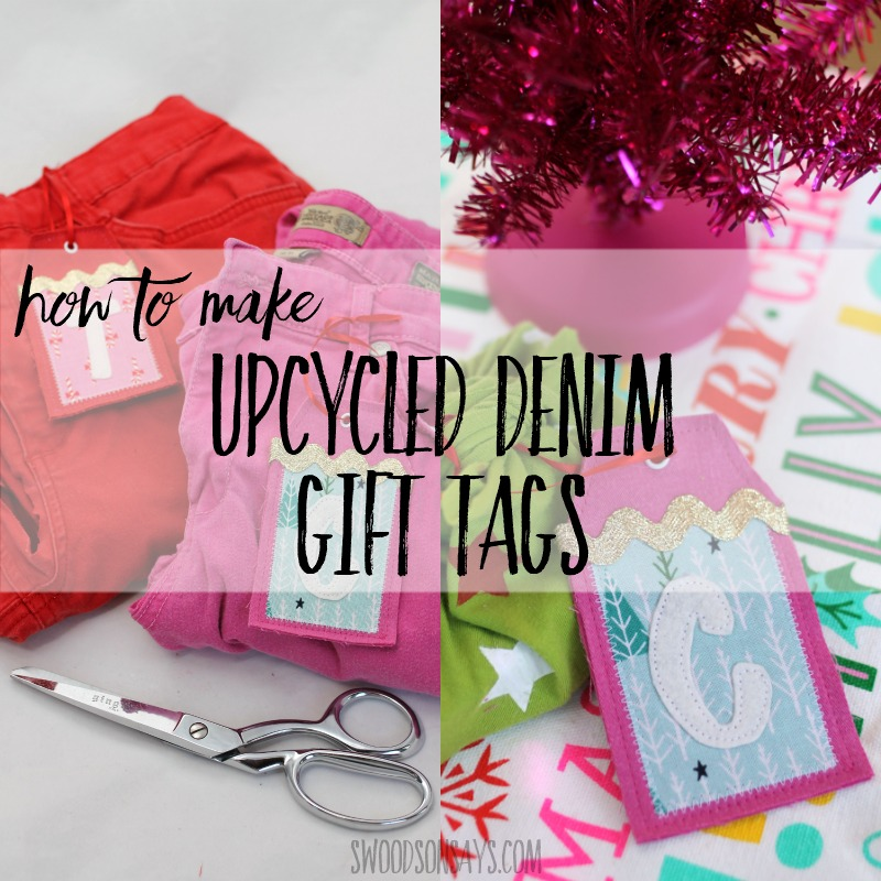 Upcycled fabric gift tag tutorial