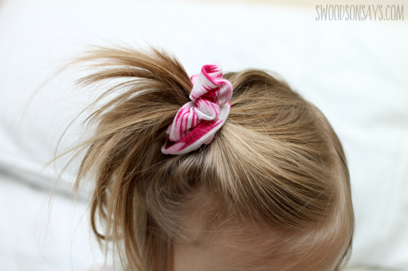 kid sized scrunchie diy